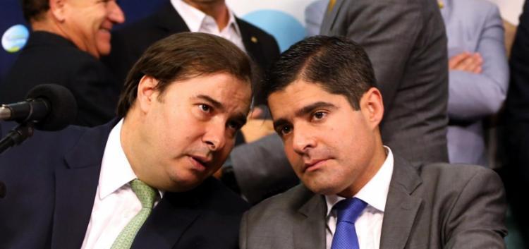 Rodrido Maia e ACM Neto tentam amenizar os ânimos dentro do DEM - Foto: Divulgação