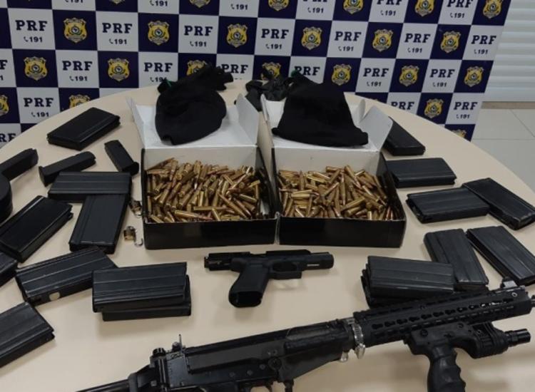 Em 2020 houve aumento de 339% na apreensão de munições nas rodovias do estado | Foto: Divulgação | PRF - Foto: Divulgação | PRF