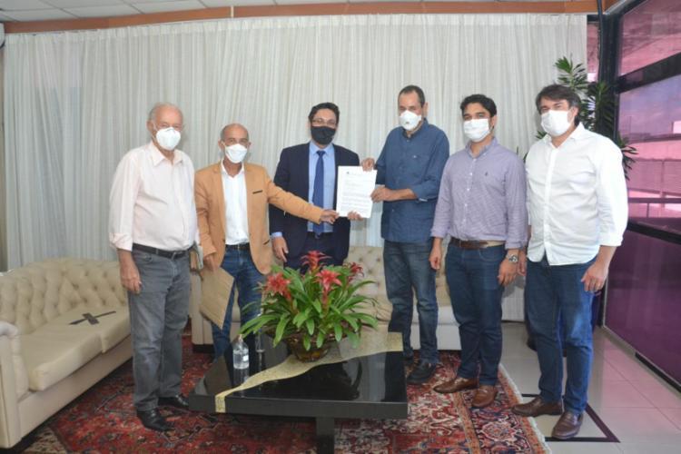 Reunião aconteceu no gabinete da presidência da Assembleia / Foto: Divulgação | Alba - Foto: Divulgação | Alba