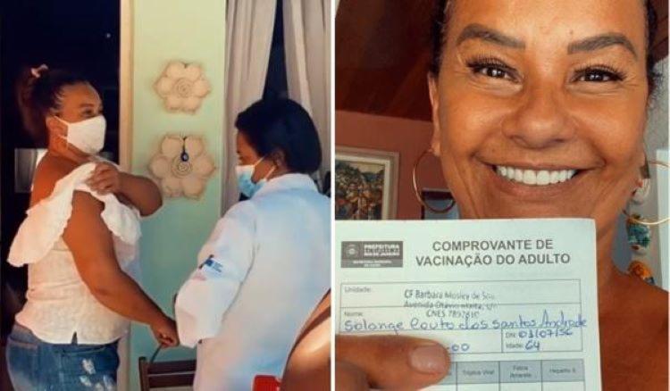 atriz, que mora no Retiro dos Artistas, foi imunizada. Fãs afirmaram que ela
