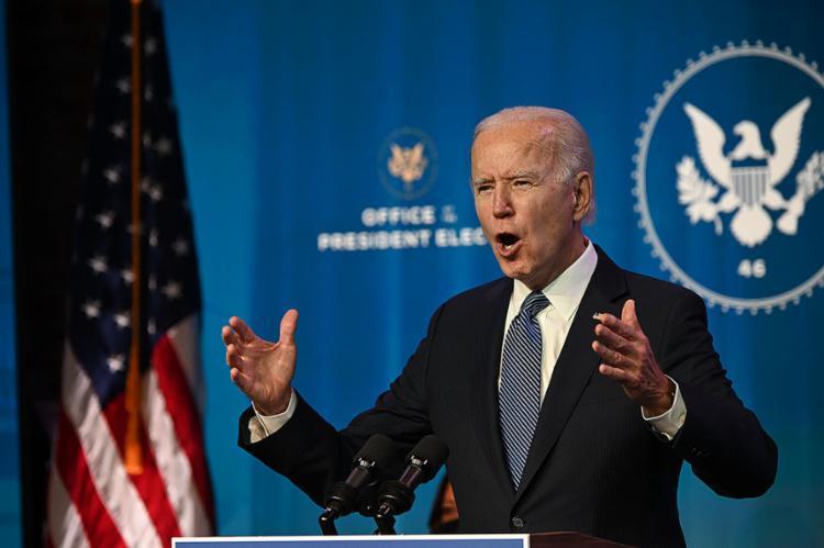 O presidente eleito considerou a violência no Capitólio um dos 'dias mais sombrios' da história americana   Foto: Jim Watson   AFP - Foto: Jim Watson   AFP