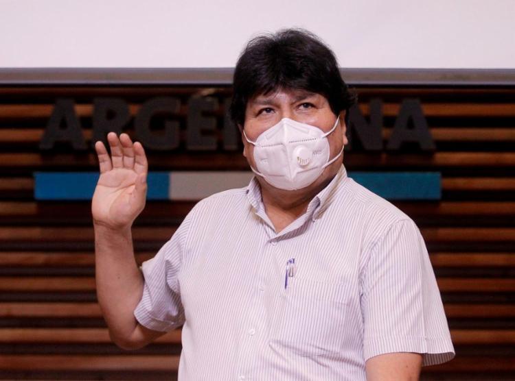 Morales, aliado de Correa, já havia manifestado apoio a Arauz | Foto: Emiliano Lasalvia | AFP - Foto: Emiliano Lasalvia | AFP