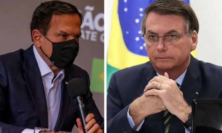 Bolsonaro está convencido de que o tucano trabalha para articular o impeachment | Fotos: Divulgação I governo de São Paulo e Marcos Corrêa I PR - Foto: Divulgação I governo de São Paulo e Marcos Corrêa I PR