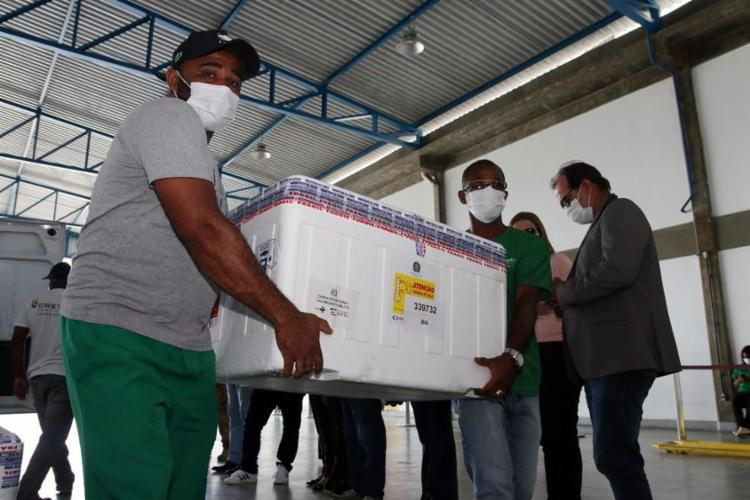 Bahia recebeu até então 550,7 mil doses de vacinas contra a Covid-19 / Foto: Divulgação | Sesab - Foto: Divulgação | Sesab