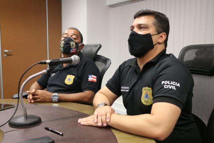 Em depoimento, os suspeitos confessaram a participação no crime e narraram toda a ação I Foto: Alberto Maraux | SSP-BA - Foto: Alberto Maraux | SSP-BA