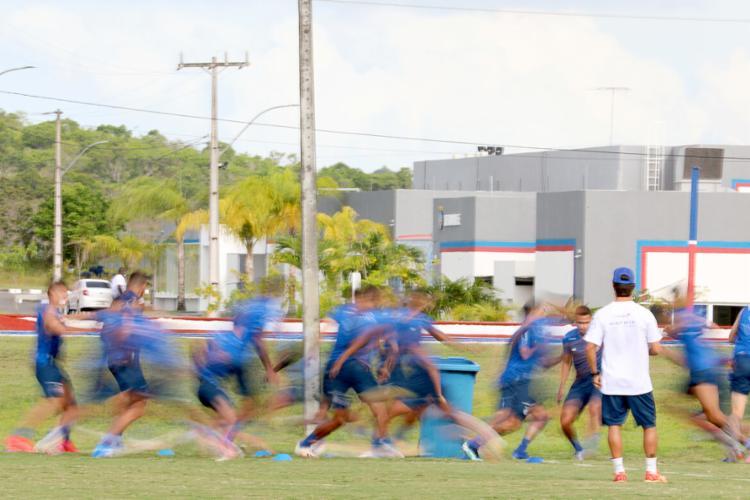 Jogadores receberam cobrança por maior empenho da diretoria e de uma organizada   Foto: Felipe Oliveira   EC Bahia - Foto: Felipe Oliveira   EC Bahia
