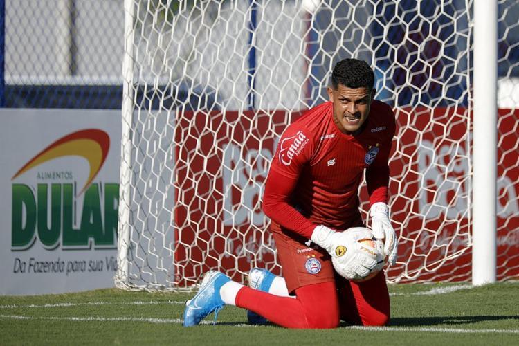 Goleiro renovou com o Tricolor   Foto: Felipe Oliveira   E.C.Bahia - Foto: Felipe Oliveira   E.C.Bahia
