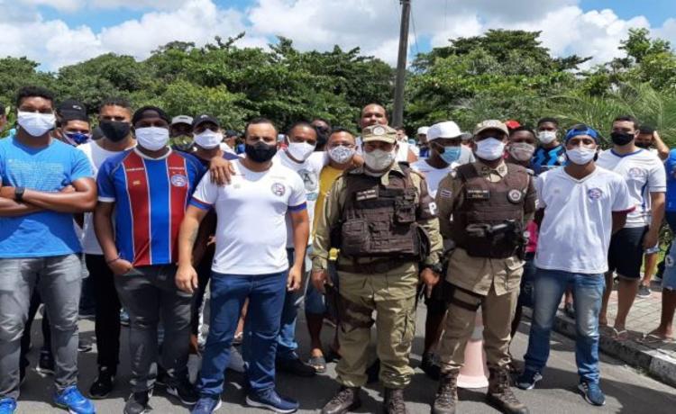 A Polícia Militar acompanhou a manifestação pacifica | Foto: Divulgação - Foto: Divulgação