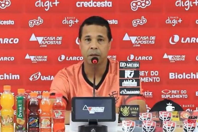 Chagas revelou que conversa no vestiário foi fundamental para empate   Foto: Reprodução   E.C.Vitória - Foto: Reprodução   E.C.Vitória