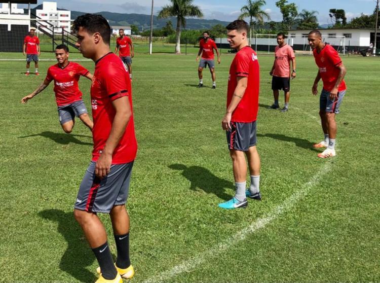 O jogador estava com uma lesão na coxa, mas já se recuperou e viajou à capital catarinense | Foto: Divulgação | EC Vitória - Foto: Divulgação | EC Vitória