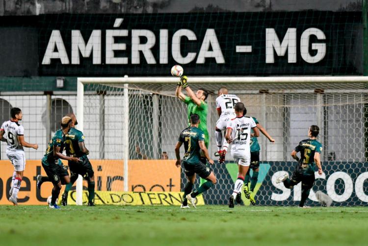 A derrota não colocou o Rubro-Negro no Z4 | Foto: Mourão Panda | América-MG - Foto: Mourão Panda | América-MG