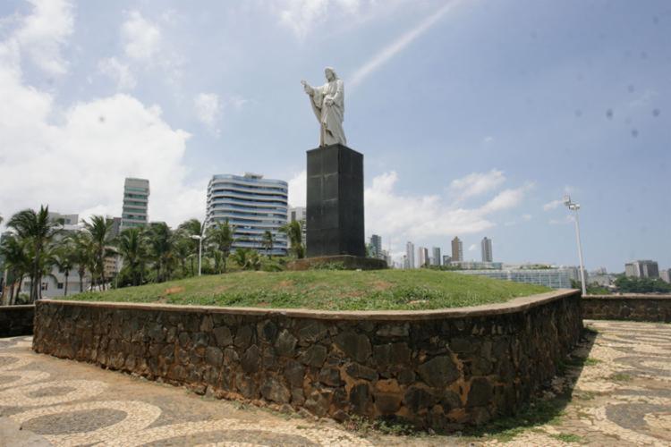 Assalto aconteceu na região do Cristo, monumento do bairro   Foto: Olga Leiria   Ag. A TARDE - Foto: Olga Leiria   Ag. A TARDE