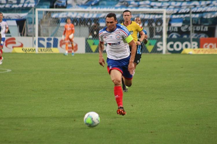 Tricolor saiu na bronca com o VAR, que anulou gol de Gilberto | Foto: Rafael Machaddo | EC Bahia - Foto: Rafael Machaddo | EC Bahia