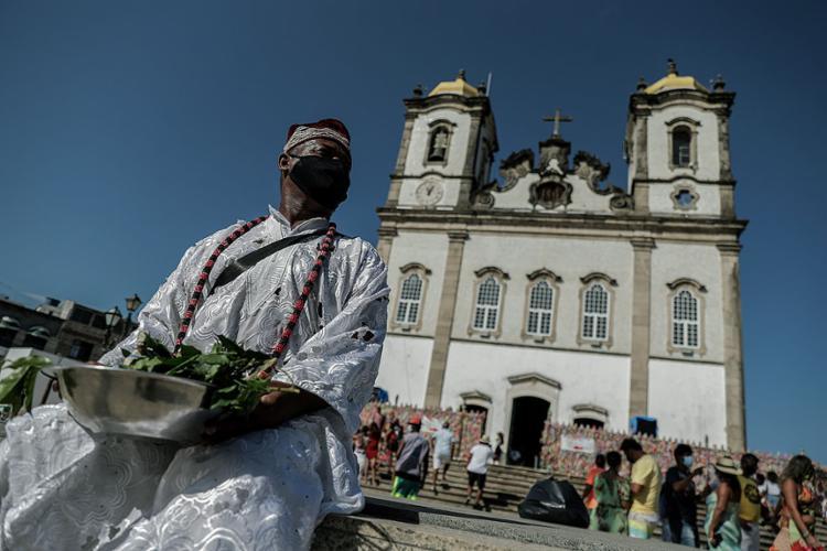 A tradicional Lavagem do Bonfim, que este ano seria no dia 14, será excepcionalmente substituída por uma carreata pelas ruas da capital baiana | Foto: - Foto: Uendel Galter | Ag A TARDE