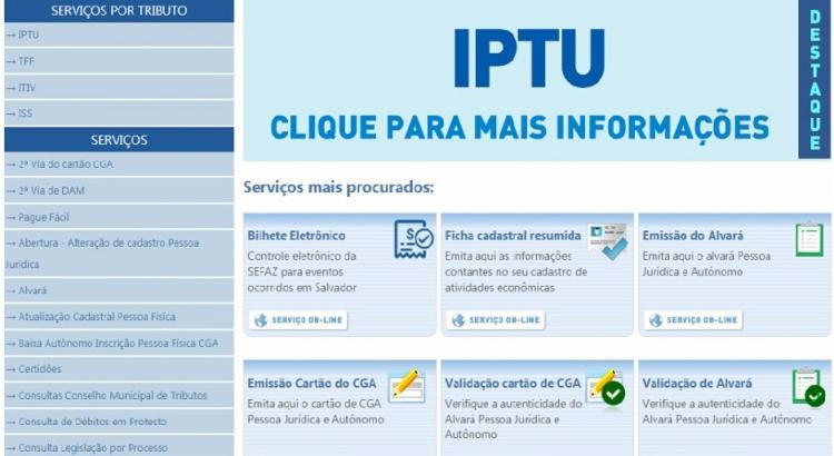 O documento está disponível no site da Secretaria Municipal da Fazenda (Sefaz) e deve ser pago na rede bancária credenciada | Foto: Divulgação - Foto: Divulgação
