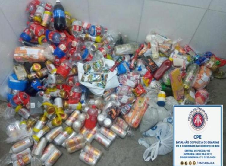 Policiais encontraram os materiais escondidos, em embalagens de formato oval - Foto: Divulgação | SSP