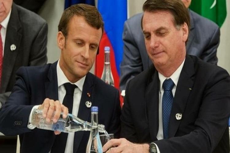 Macron, associou a soja do Brasil ao desmatamento da floresta amazônica - Foto: Reprodução