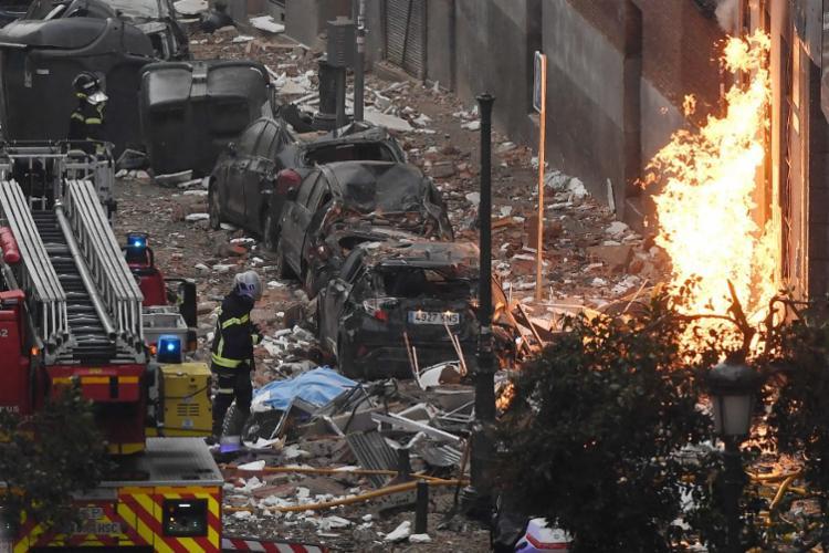 Vazamento de gás destruiu um prédio no centro de Madri | Foto: Oscar Del Pozo | AFP - Foto: Oscar Del Pozo | AFP