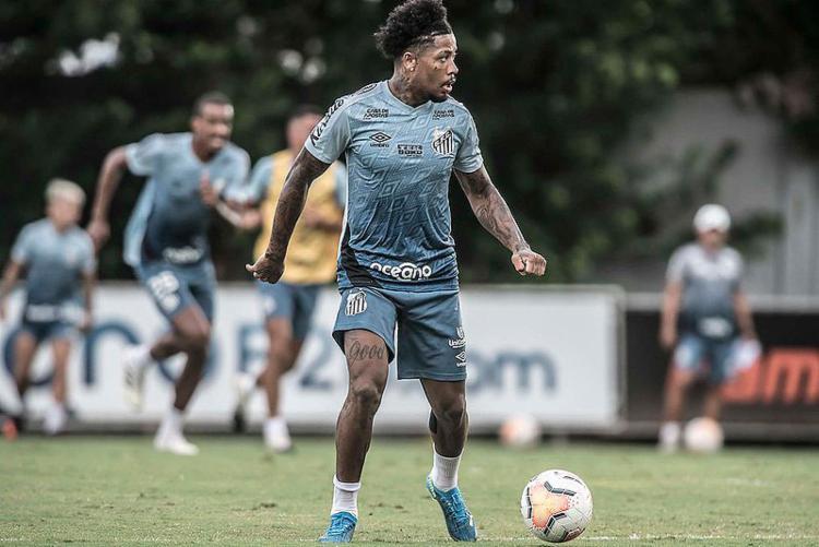 O atacante Marinho está confirmado no time para o confronto decisivo | Foto: Marinho - Foto: Ivan Storti | Santos FC