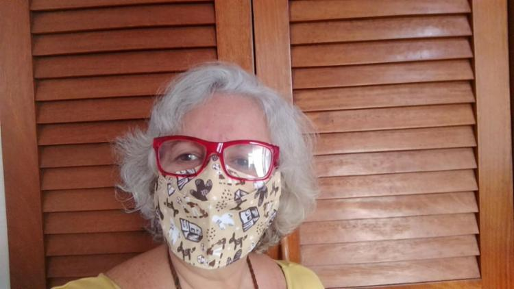 Rita montou uma marca que fabrica máscaras de pano   Foto: Acervo Pessoal