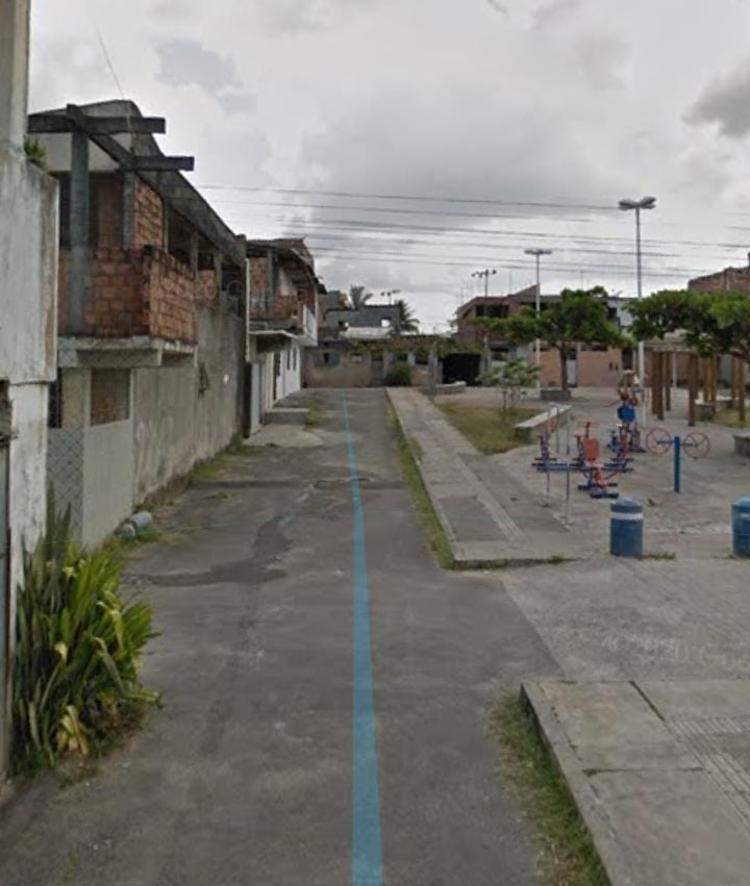 Mulher foi preso por homicídio cometido na rua Muniz Ferreira, em Nova Brasília de Valéria | Foto: Reprodução | Google Google Street View - Foto: Reprodução | Google Street View