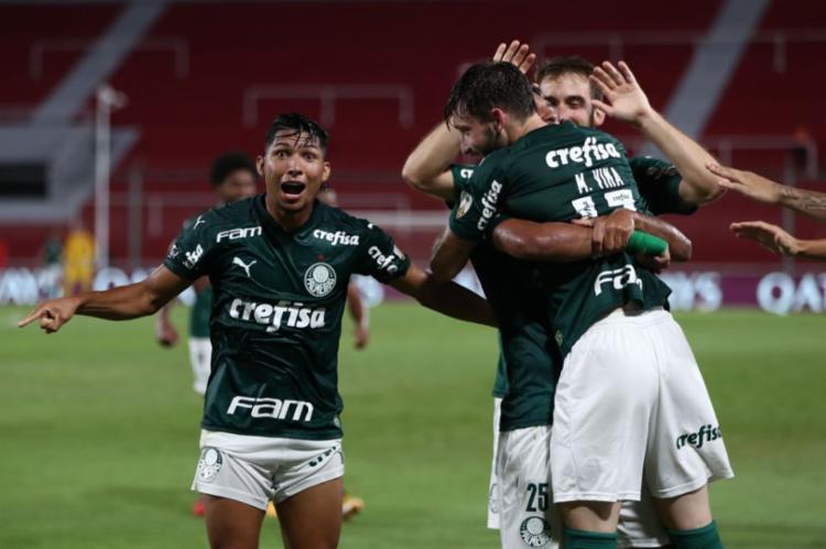 O Palmeiras caminha para sua quinta final de Libertadores com um time movido pelo espírito de jovens talentos | Foto: Juan Ignacio Roncoroni | AFP - Foto: Juan Ignacio Roncoroni | AFP