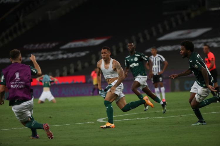O gol do Verdão foi marcado por Breno Lopes, nos acréscimos do segundo tempo | Foto: Ricardo Moraes | AFP - Foto: Ricardo Moraes | AFP
