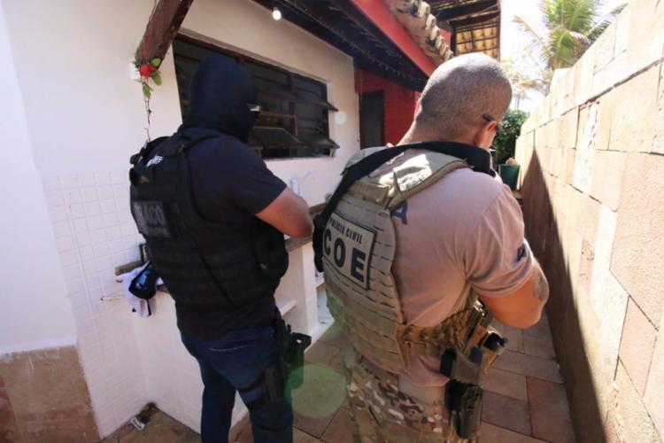 Investigados compõem o grupo criminoso responsável pelos recentes ataques a instituições bancárias na capital baiana | Foto: Alberto Maraux | SSP - Foto: Alberto Maraux | SSP