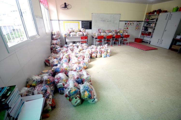 Durante o ano de 2020, foram distribuídas 1,3 milhão de cestas básicas, que somam mais de 19 mil toneladas de alimentos I Foto: Divulgação   Secom-PMS - Foto: Divulgação   Secom-PMS