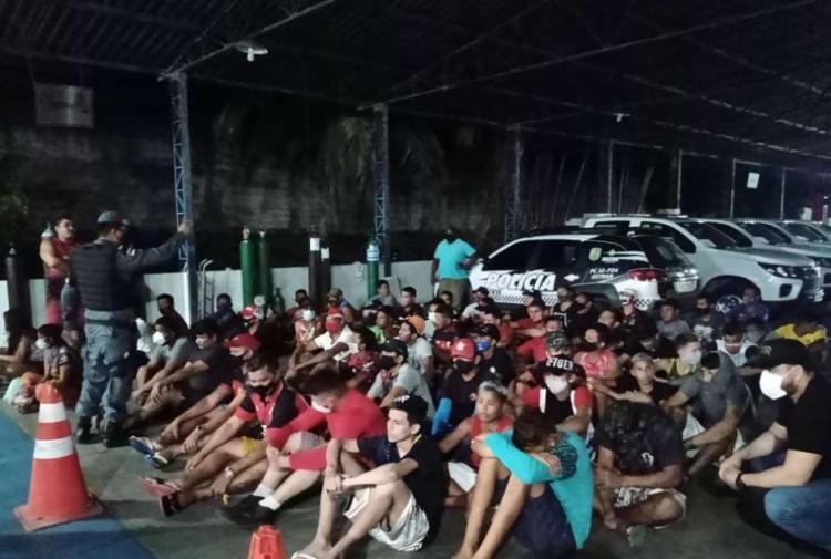 Decreto na capital amazonense que proíbe a circulação de pessoas das 19h às 6h; medida foi tomada após explosão de casos de covid-19 I Foto: SSP-AM I Divulgação - Foto: SSP-AM I Divulgação