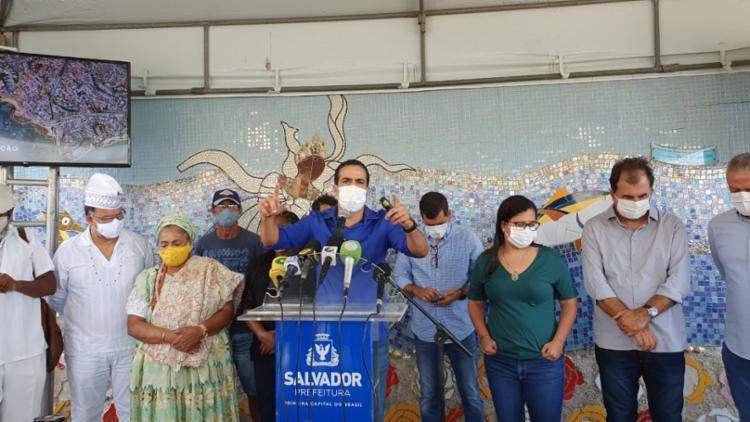 Anúncio foi feito pelo prefeito durante coletiva na manhã desta quarta-feira | Foto: Fernando Valverde | Ag. A TARDE - Foto: Fernando Valverde | Ag. A TARDE