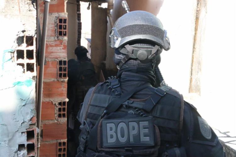 Equipes do Batalhão de Operações Policiais Especiais (BOPE) também participaram da operação | Foto: Divulgação | SSP-BA - Foto: Divulgação | SSP-BA