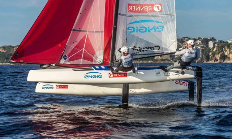 Dupla olímpica da classe Nacra 17 foi a melhor da Miami Olympic Class | Foto: US Sailing | Allison Chenard - Foto: US Sailing | Allison Chenard