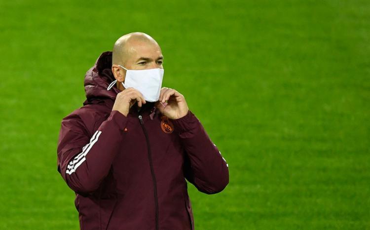 O treinador do Real Madrid testou positivo para o coronavírus na semana passada   Foto: Ina Fassbender   AFP - Foto: Ina Fassbender   AFP