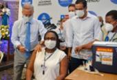 Primeira vacinada na Bahia, enfermeira internada com Covid-19 volta a trabalhar | Foto: Shirley Stolze | Ag. A TARDE
