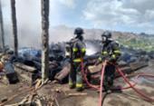 Incêndio atinge fábrica de paletes em Valéria | Foto: Divulgação | CBM