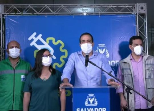 Prefeito Bruno Reis anuncia abertura de 160 leitos no Hospital Salvador   Reprodução   YouTube
