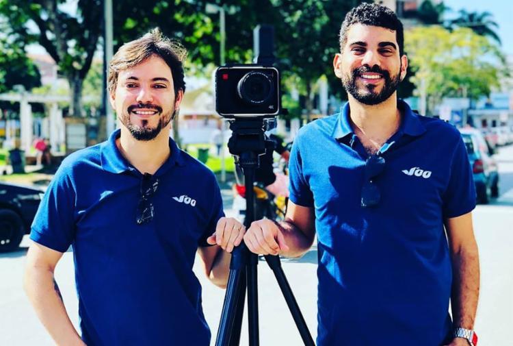 Edson Bastos e Henrique Filho, do longa Cinema de Amor