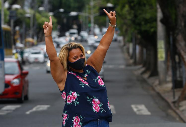 Edilene Batista e a alegria de quem adora o Carnaval   Foto: Rafael Martins   Ag. A TARDE