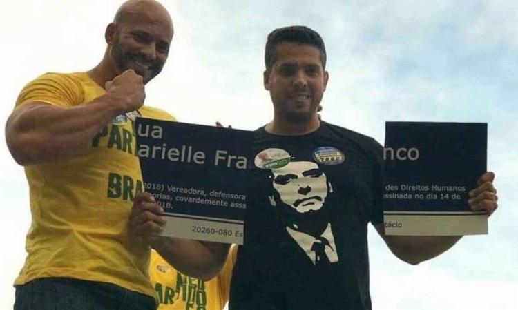O deputado federal Daniel Silveira (à esq.) foi preso após vídeo com ataques a ministros do STF   Foto: Reprodução - Foto: Reprodução
