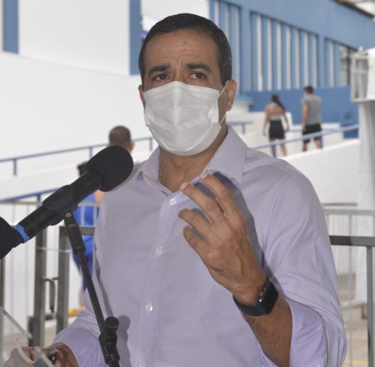 Maia foi repreendido por prefeito de Salvador após afirmar que Neto teria entregue 'cabeça do partido em uma bandeja' durante eleição da Câmara - Foto: Shirley Stolze / AG.A Tarde