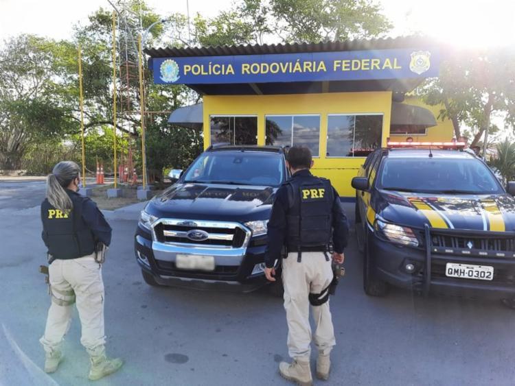 Caminhonete havia sido roubada em julho de 2019   Foto: Divulgação   PRF - Foto: Divulgação   PRF