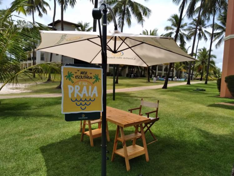 Estrutura física com acesso à internet pode ser instalada de frente para a praia | Foto: Thaís Seixas | Ag. A TARDE - Foto: Thaís Seixas | Ag. A TARDE