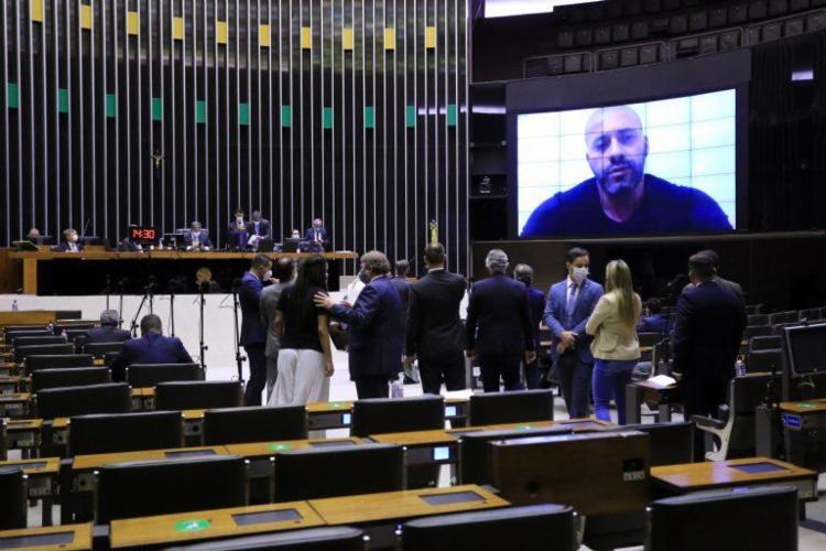 Silveira foi preso na semana passada depois de publicar um vídeo com ataques e ameaças aos ministros do STF. Foto: Michel Jesus | Câmara dos Deputados - Foto: Michel Jesus | Câmara dos Deputados