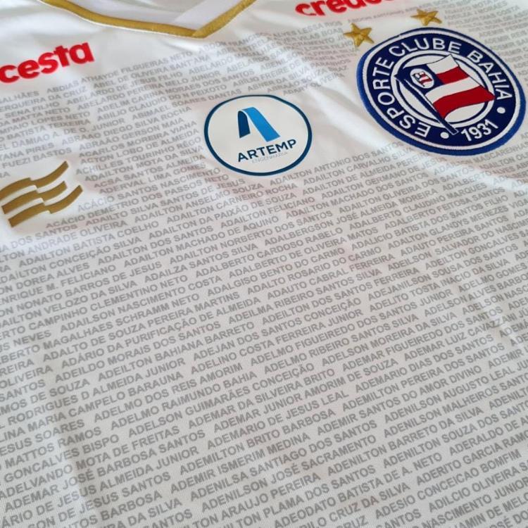 Os sócios que permaneceram adimplentes com o plano de sócio terão seus nomes estampados na camisa do jogo | Foto: Divulgação | EC Bahia - Foto: Divulgação | EC Bahia