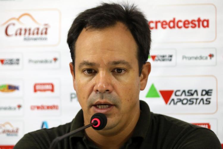 Técnico ressaltou que o Tricolor teve as melhores chances da partida | Foto: Felipe Oliveira | E.C.Bahia - Foto: Felipe Oliveira | E.C.Bahia