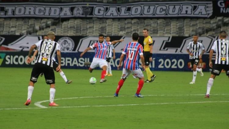 Volante quase marcou belo gol contra o Atlético-MG | Foto: Reprodução - Foto: Reprodução