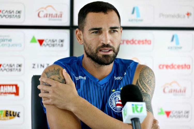Gilberto é cotado para retornar ao time diante do Fortaleza | Foto: Felipe Oliveira | E.C.Bahia - Foto: Felipe Oliveira | E.C.Bahia