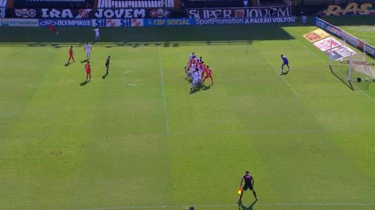 Autor do gol, Dourado afirmou que estava em posição legal | Foto: Reprodução | Premiere - Foto: Reprodução | Premiere