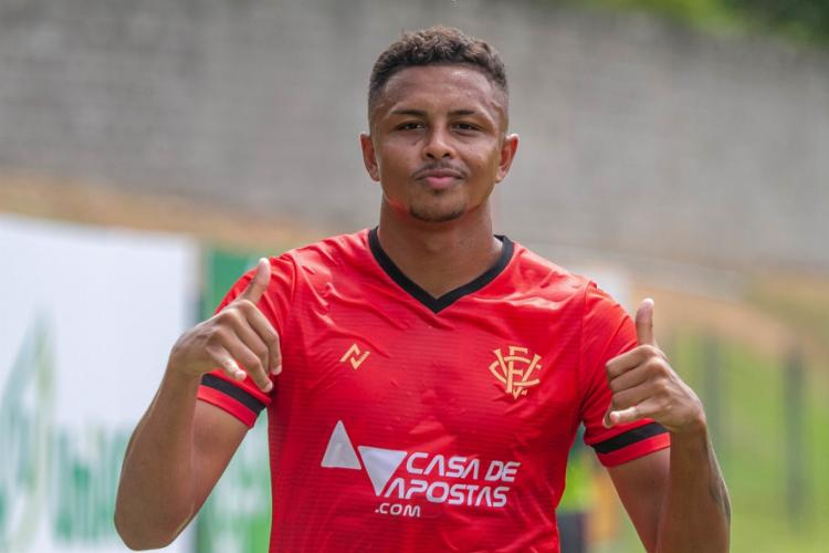 Samuel marcou na última partida da Série B e na estreia pelo Baianão | Foto: Letícia Martins | EC Vitória - Foto: Letícia Martins | EC Vitória